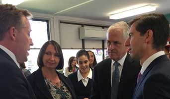 Nicholas Wyman joins Australia's PM in Emu Plains NSW
