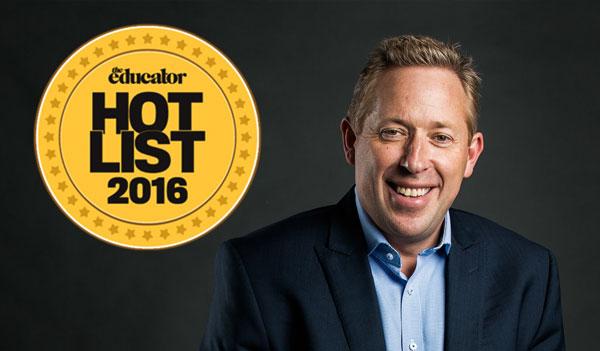Job U author makes 2016 educator magazine hot List