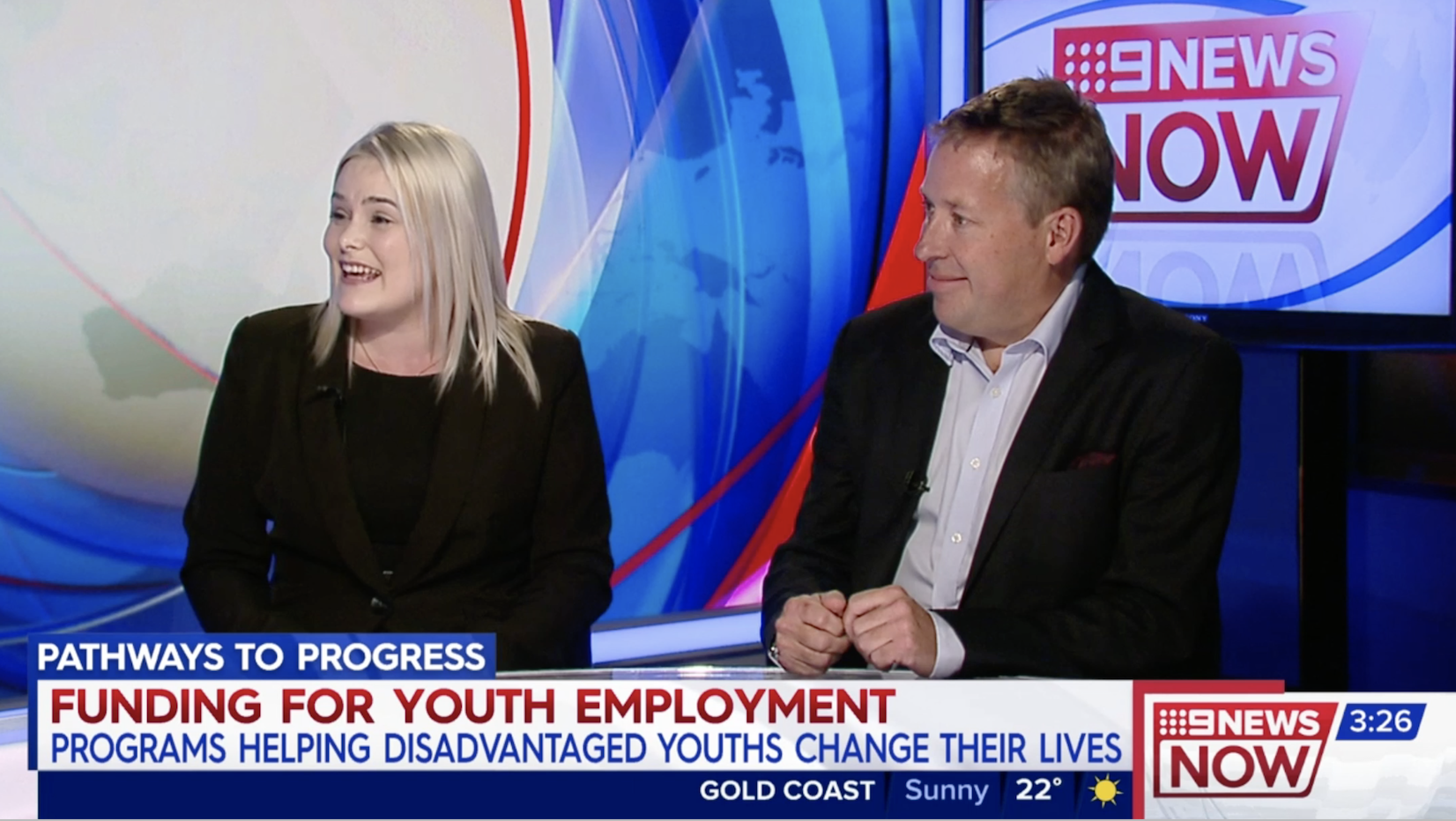 Nicholas Wyman & Alicia Doolan w/ Belinda Russell on Citi Pathways to Progress Initiative – 9NewsNOW